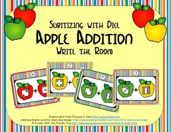 Apple Addition {Subitizing with Dice}