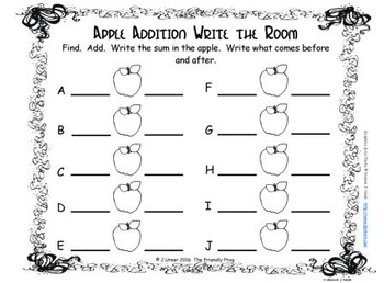 Apple Addition {Subitizing with Tally Marks}