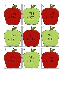 Apple Addition & Subtraction Center