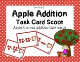 Apple Addition Task Card Scoot