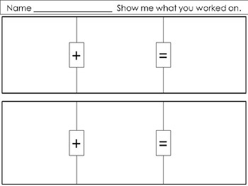 Apple Addition Up to 10 with worksheet