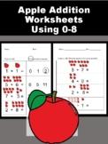 Apple Addition Worksheets 0-8