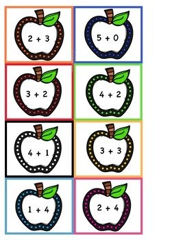 Apple Addition and Odd/Even Sorting Task Cards