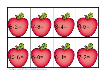 Apple Addition and Subtraction Sorts