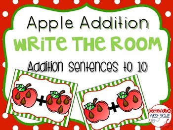 Apple Addition to 10 Write the Room