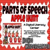 Parts of Speech Apple Hunt-A Digital Literacy Center for Google Classroom