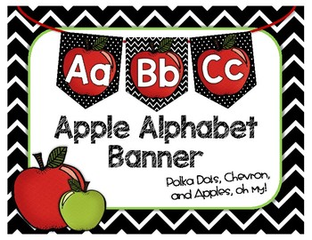 Apple Alphabet Banner - Word Wall - Back to School - Classroom Decor