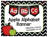 Apple Alphabet Banner - Word Wall - Back to School - Class