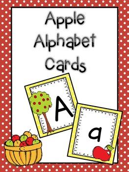 Apple Alphabet Cards