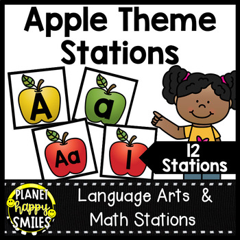 Alphabet  Matching Cards ~ Apple Theme