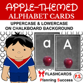 Apple Alphabet Cards on Chalkboard
