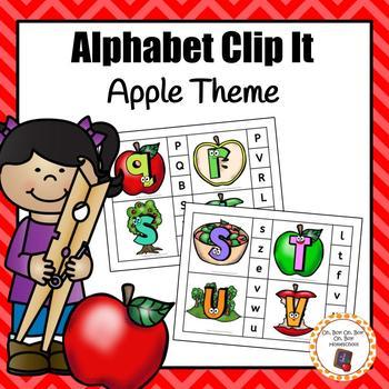Apple Alphabet Clip It Cards - S