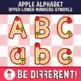 Apple Alphabet Clipart Letters ENG.-SPAN. (U.-L.-N.-S.) (Guided Set)