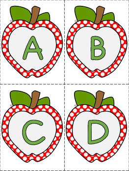 Apple Alphabet Flashcards