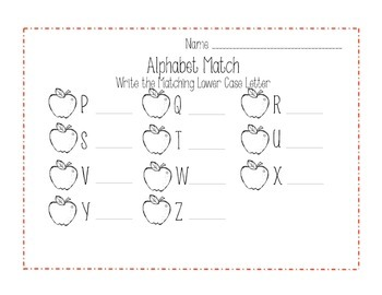 Apple Alphabet Match Up