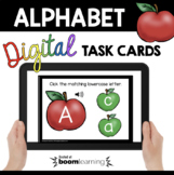 Apple Alphabet Matching Boom Cards™ capital and lowercase letter matching Audio