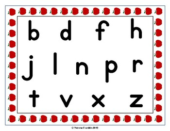 Apple Alphabet Mats FREEBIE