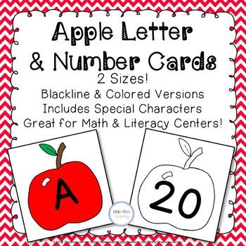 Apple Alphabet & Number Cards