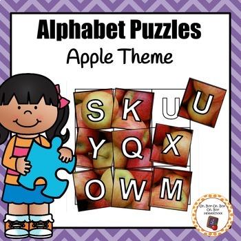 Apple Alphabet Puzzles