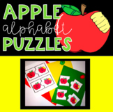 Apple Alphabet Puzzles Matching Capitals and Lowercase Let