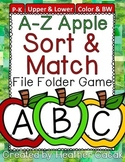 Apple Alphabet Sort & Match File Folder Game
