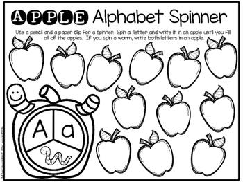 Apple Alphabet Spinners: Aa Through Zz