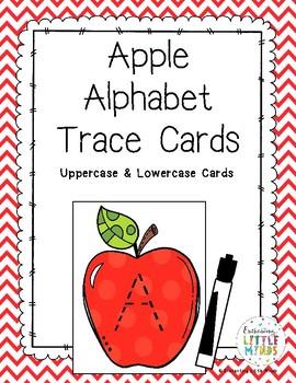 Apple Alphabet Trace Cards