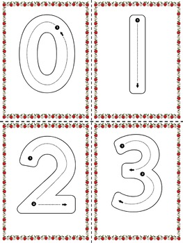 Alphabet and Number Tracing Cards