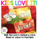 Apple Alphabet and Sight Word Game
