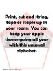 Apple Alphabet (cursive)