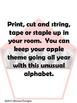 Apple Alphabet (dnealian)