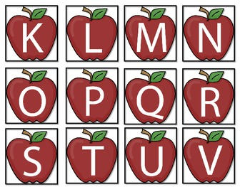 Apple Alphabet-upper and lower case letters