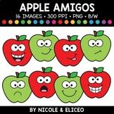 Fall Apple Faces Amigos Clipart