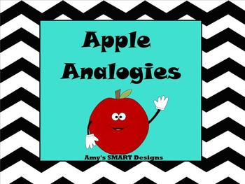 Apple Analogies SMARTBoard Lesson and printables