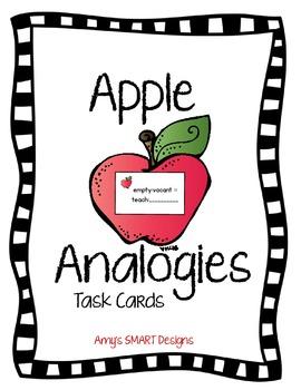 Apple Analogy Task Cards