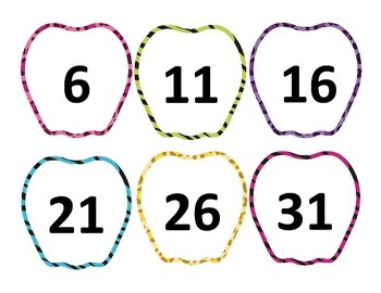 Apple Animal Print Skip Counting by 5's