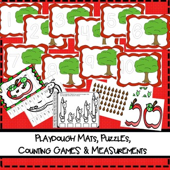 Apple  Unit Counting, Games, Centers, Labeling, Playdoh mats Fall and more!!