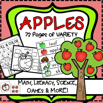 Apple  Unit Counting, Games, Centers, Labeling, Playdoh ma