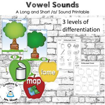 Phonics-Vowels - Picking Apple Vowels (Long & Short a)