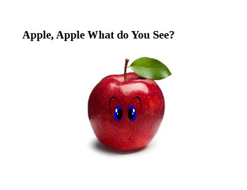Apple Apple What Do You See? booklet