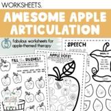 Apple Articulation Worksheets {NO PREP!}