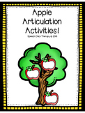 Apple Articulation Activities