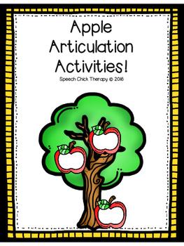 Apple Articulation Activities