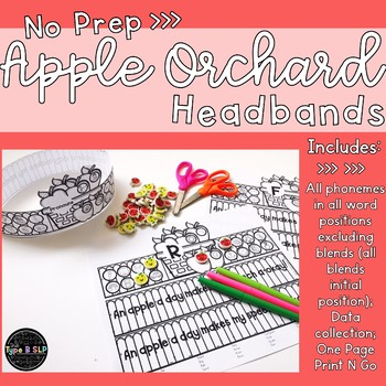 Apple Articulation & Language Headbands for Speech Therapy: One Page Craft