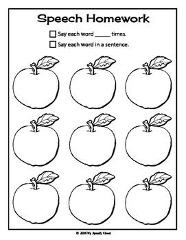 Apple Articulation Speech Homework
