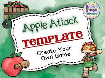 Apple Attack Template  - Create Your Own Game