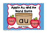 Apple Au and Aw Word Sort