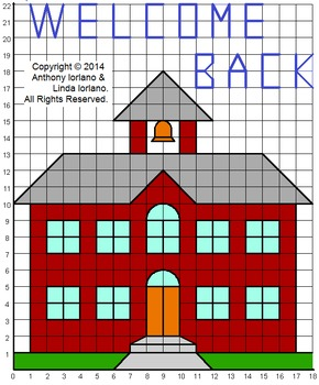 Back to School Schoolhouse Mystery Picture