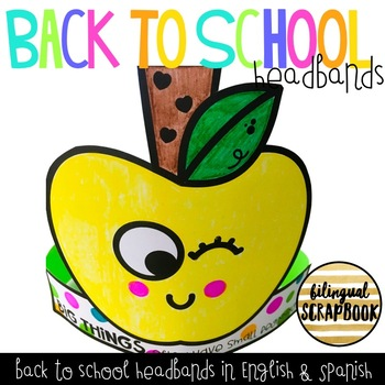Apple Back to School Headbands FREEBIE (English & Spanish)