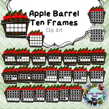 Apple Barrel Ten Frames 0-20 (Back to School Freebie)